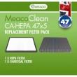 Filtru komplekts priekš Meaco CA-HEPA 47x5
